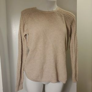 Sonoma gently with tanish colored crew sweater